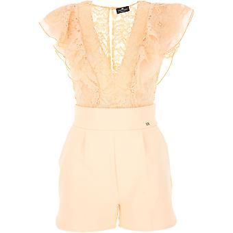 Elisabetta Franchi Pink Nylon Jumpsuit