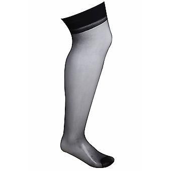 Black Sheer Band Top Stockings