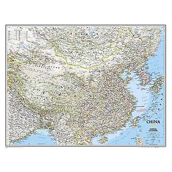 China Classic Tubed  Wall Maps Countries amp Regions by National Geographic Maps