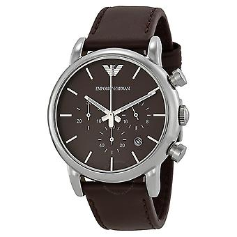 Emporio Armani Ar1734 Gents Classic Leather Strap Watch