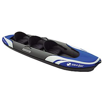 Sevylor Hudson 3 Person Kayak - Blue/Grey