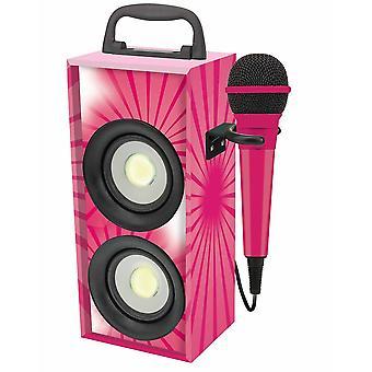 Lexibook Portable Karaoke With Microphone Pink/Black (Model No. BTP155PKZ)
