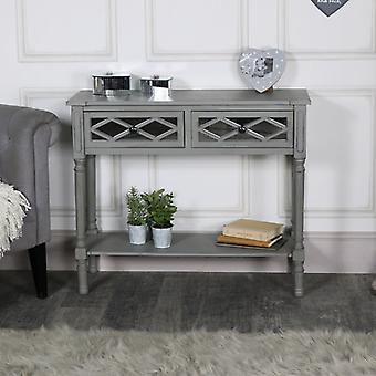 Grey Mirrored Console Table � Vienna Range