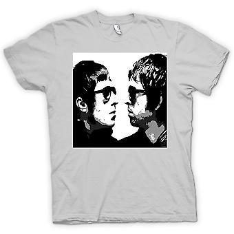 Mens T-shirt - Liam and Noel - Oasis