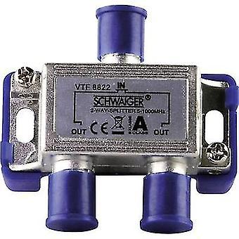 Schwaiger VTF8822 Kabel-TV-Verteiler 2-Wege 5 - 1000 MHz