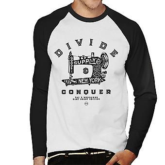 Divide & Conquer New York East Coast Edition Men's Baseball Long Sleeved T-Shirt