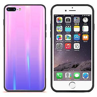 BackCover Aurora Glass voor Apple iPhone 8 Plus/7 Plus Roze