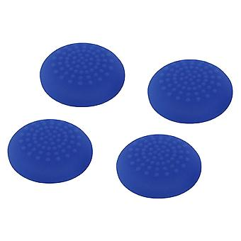 Convex soft silicone thumb grips for sony ps4 controller analog sticks - 4 pack blue