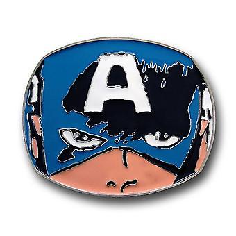 Hebilla de cinturón facial Capitán América
