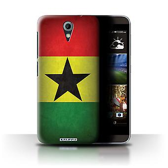 STUFF4 Case/Cover for HTC Desire 820 Mini/Ghana/Ghanaian/Flags