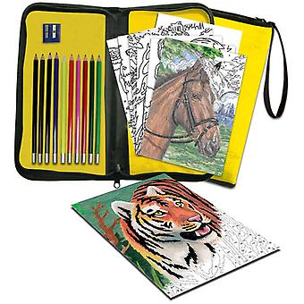 Big Kid's Choice Easy To Do Keep N' Carry Set Colour Pencil By Numbers Bk Kccpn