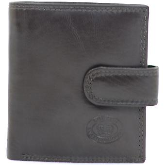 Mens Leather Bi-Fold Credit Card / Money / Coin Wallet- Black