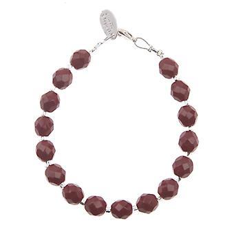 Carrie Elspeth Fire Glisten Facet Red Crystal Bracelet