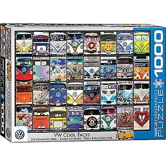 VW Volkswagen Cool Faces 1000 piece jigsaw puzzle 680 mm x 490 mm (pz)