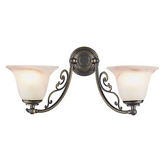 Dar Campden CW20ABP Traditional Wall Lights Double