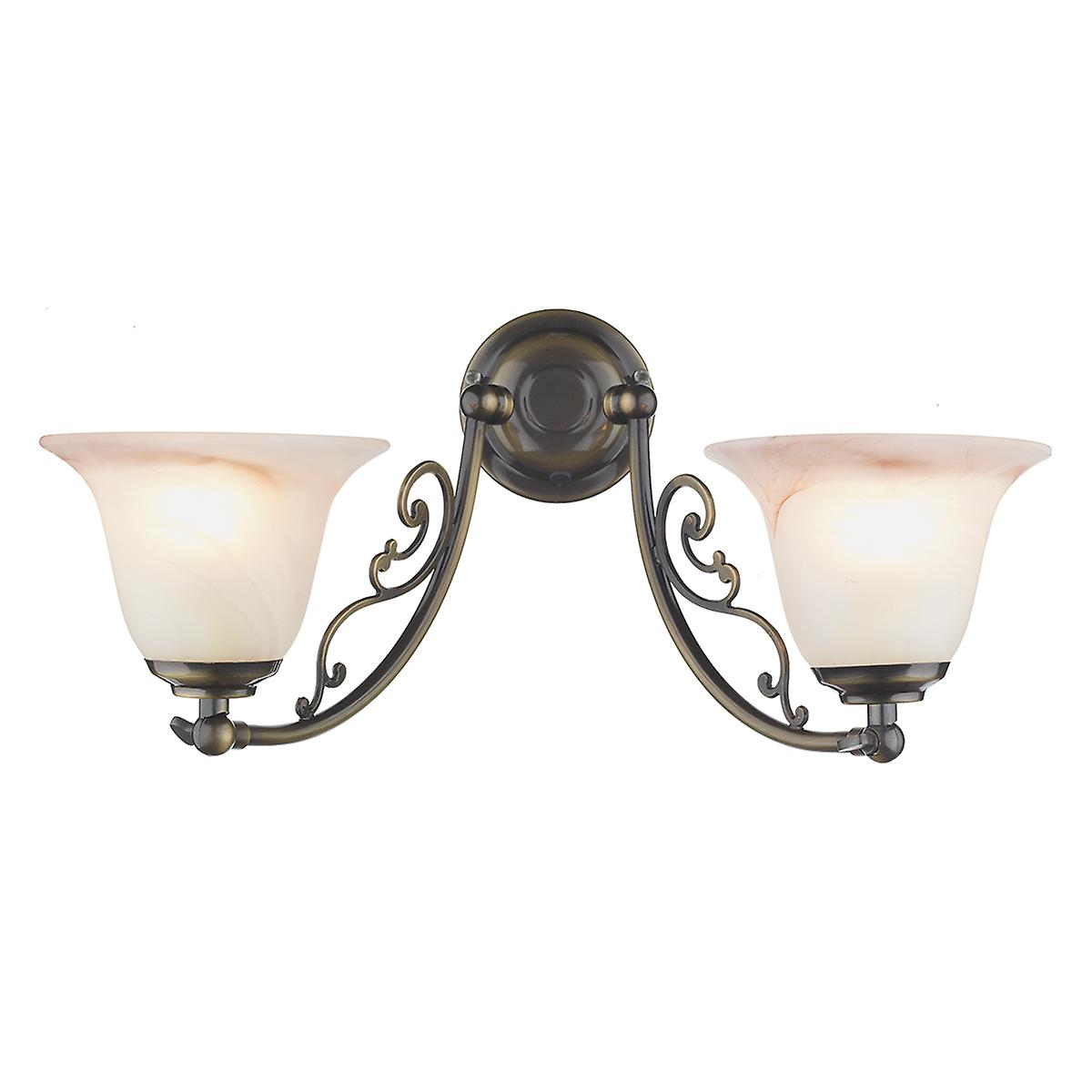 David Hunt CW20ABP Campden Double Wall Light In An Antique Brass - Bracket Only