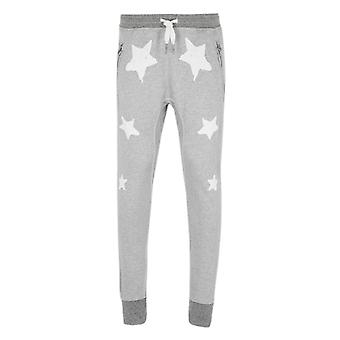 True Religion Star Print Grey Marl Tracksuit Bottoms