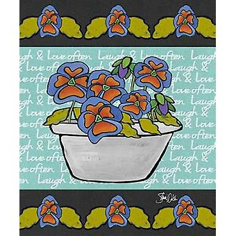 Floral Pansy Poster Print by Shanni Welsh