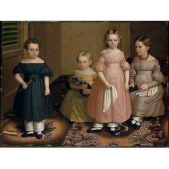 La impresión de carteles de niños Alling por Oliver Tarbell Eddy (1799