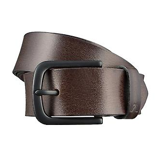 ALBERTO X-men belts men's belts leather belt dark brown 3069