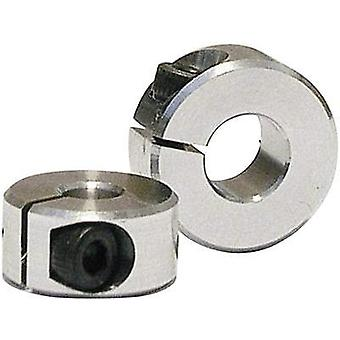 Aluminium clamping ring Thickness: 6 mm · M 2.5 clamping screw · ROHS compliant