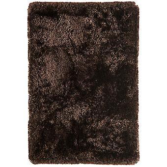 Oriel Brown Gloss Shag Area Rug