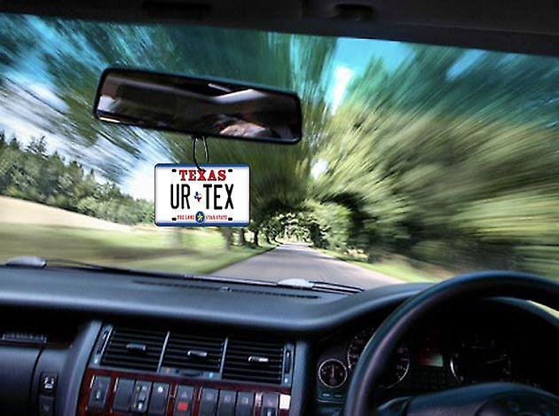 Personalised Texas Numberplate Car Air Freshener