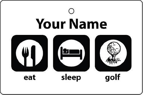 Personalised Eat Sleep Golf Car Air Freshener