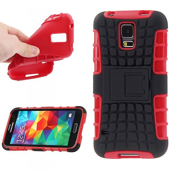 Hybrid Case 2 Piece Red Robot for Samsung Galaxy S5 Mini