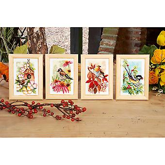4 Seasons Miniatures On Aida Counted Cross Stitch Kit-3