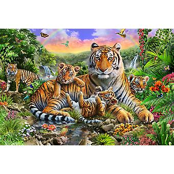 Tiger and Cubs Poster Print by Adrian Chesterman