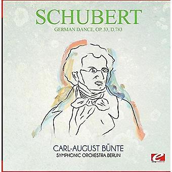 Schubert - tyske Dance Op. 33 D.783 [CD] USA import