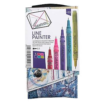 Derwent Graphik Line Painter -Set Of 5 Pens 03