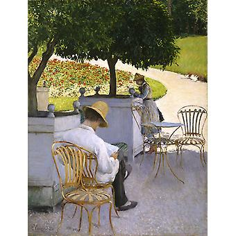 Gustave Caillebotte - The Orange Trees Poster Print Giclee