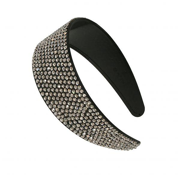 W.A.T Sparkling Dark Clear Wide Crystal Hairband