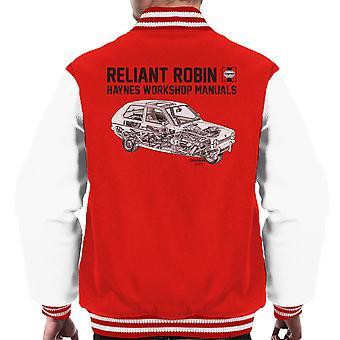 Haynes Workshop Manual Reliant Robin Black Men's Varsity Jacket