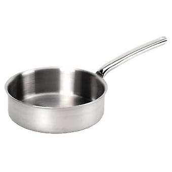 De Buyer PRIORITY straight sauté-pan with riveted handle - All stainless steel