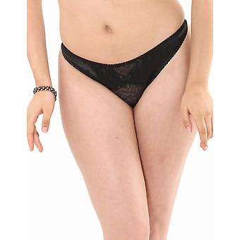 What Katie Did Diana Black Leopard Lace Thong L2101