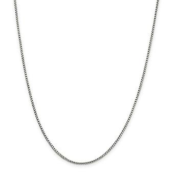 Sterling Silver Fancy Lobster Closure 1.75mm Half Round Box Chain Necklace - Length: 16 to 30
