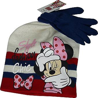 Girls Disney Minnie Mouse Winter 2 Piece set Hat & Gloves