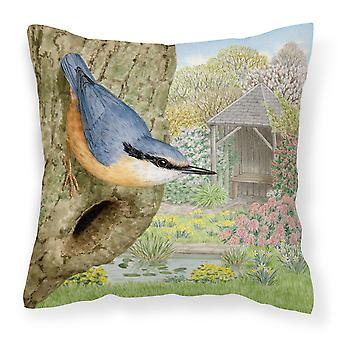 Nuthatch by Sarah Adams Canvas Decorative Pillow