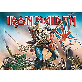 Iron Maiden le poster de tissu grand Trooper / drapeau 1100 x 750 mm (h)