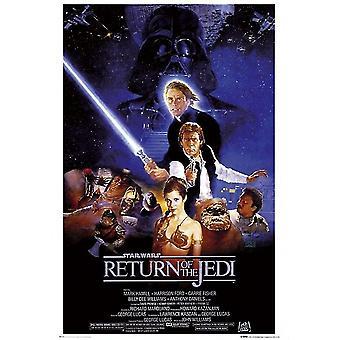 Return Of The Jedi Star Wars Poster Poster Print