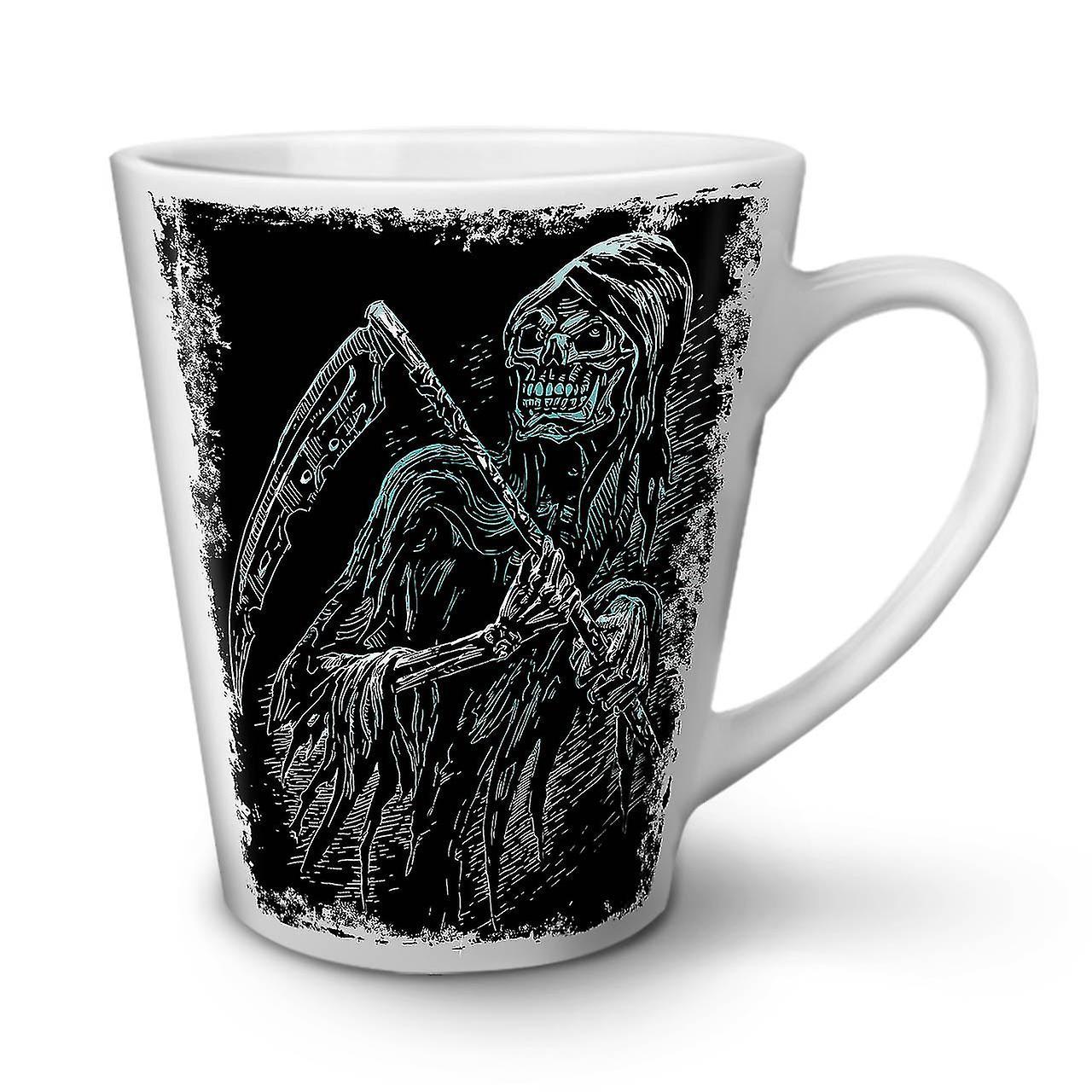 Tasse OzWellcoda Mort Café De Céramique En Blanche 12 Tueur Reaper Latte Nouvelle Ybyvf7g6