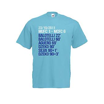 2012 Manchester City 6-1 gagnants T-shirt (bleu)