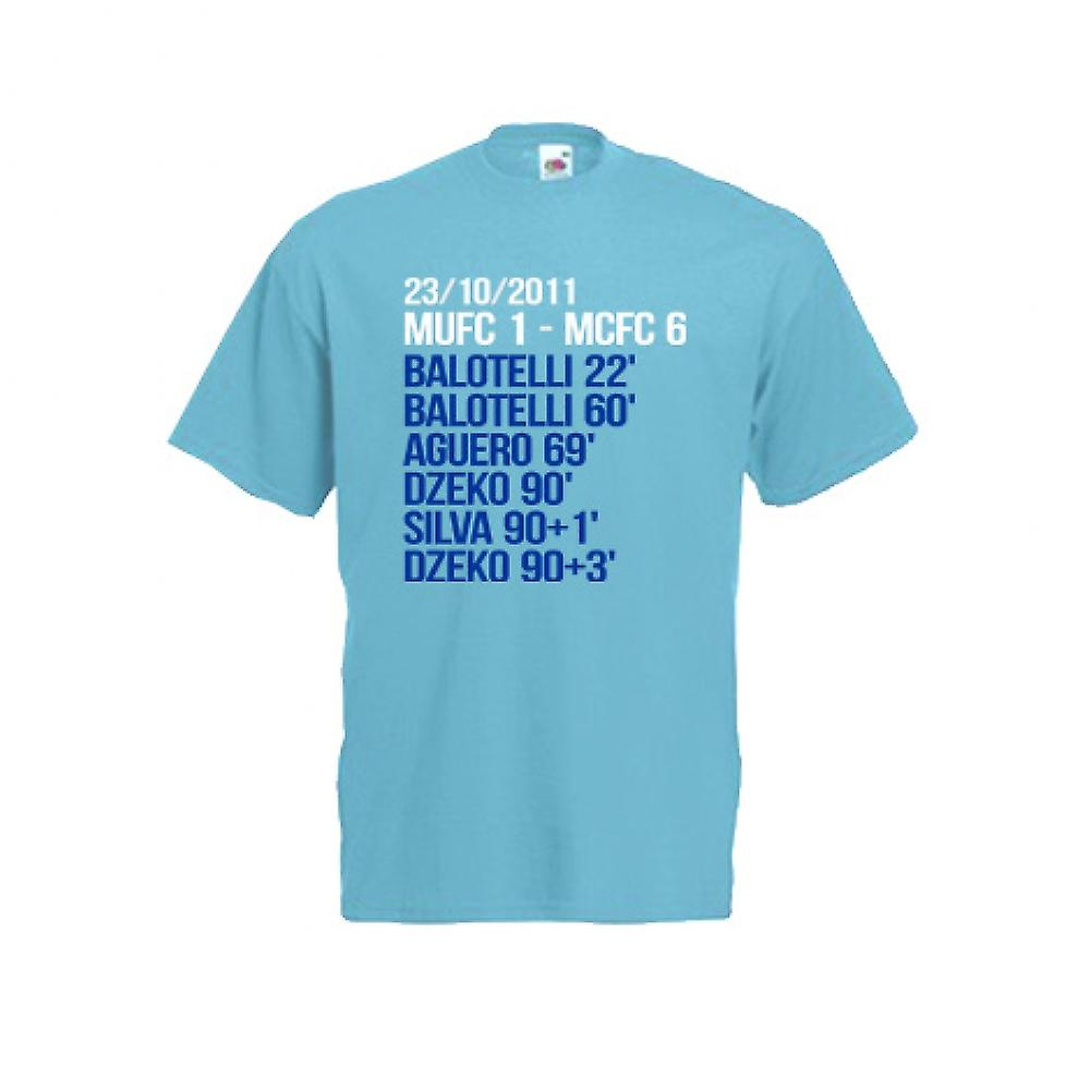 2012 Manchester City 6-1 vinnare T-Shirt (blå)