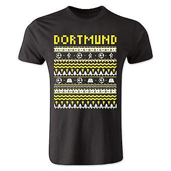 Borussia Dortmund Christmas T-Shirt (Black)