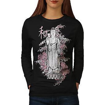 Japan Kunst Dragon Frauen BlackLong Sleeve T-shirt | Wellcoda