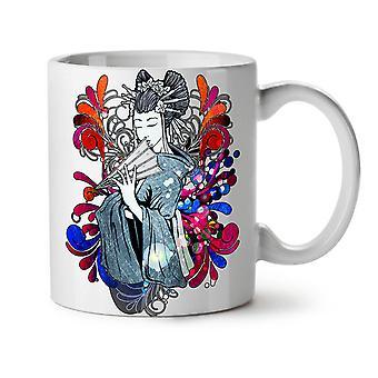 Geisha Japan Art Fantasy NEW White Tea Coffee Ceramic Mug 11 oz | Wellcoda