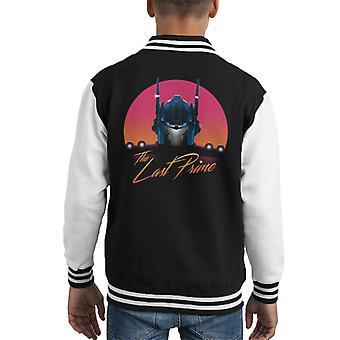 The Last Optimus Prime Transformers Sunset Kid's Varsity Jacket